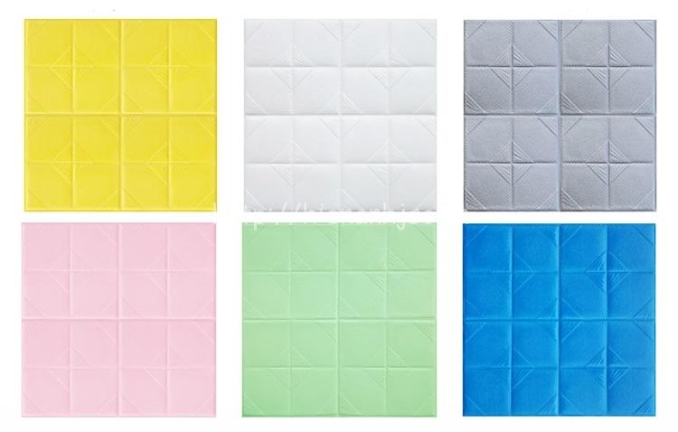 Xốp dán tường giả bọc da với 6 màu sắc lựa chọn