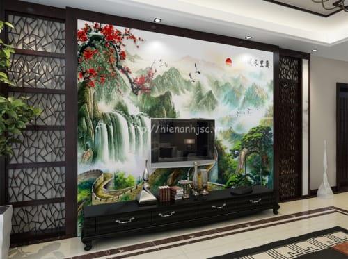 5D050-5- Tranh dan tuong boi canh van ly truong thanh