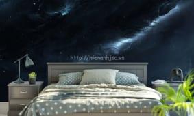 Lựa chọn giấy dán tường 3D và tranh 5D khổ lớn cho phòng ngủ đẹp