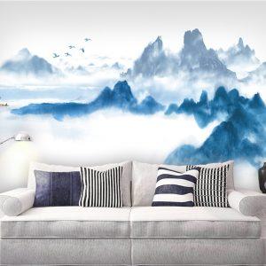 Tranh dán tường khổ lớn in 3D