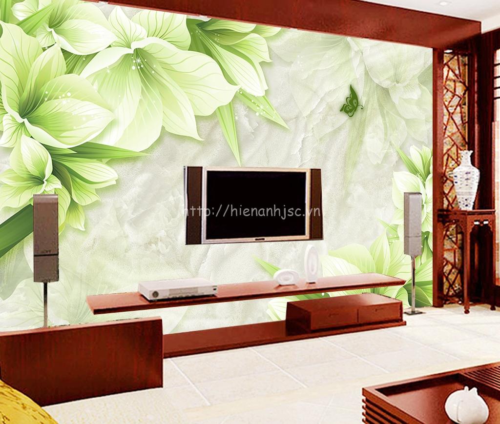 5D067-1-tranh hoa gia da Marble xanh
