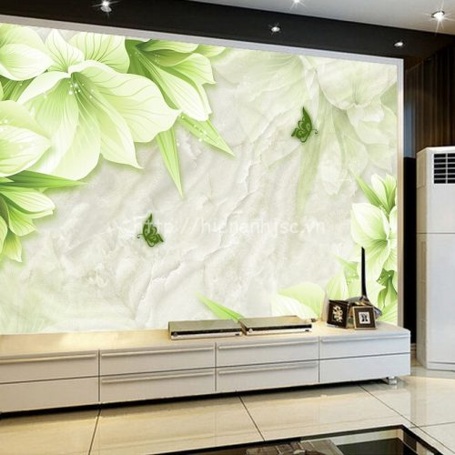 5D067-3-tranh hoa gia da Marble xanh