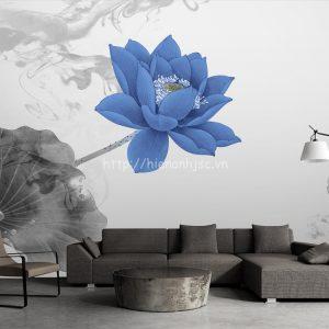 5D068-1-tranh hoa sen xanh