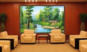 Tổng hợp mẫu giấy dán tường 3D phòng khách | Giấy dán tường rẻ đẹp