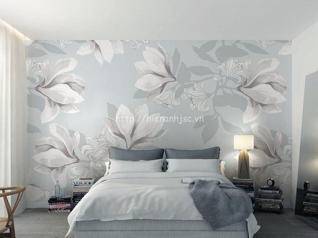 Tranh dán tường 5D - Tranh hoa thanh lịch phong cách Bắc Âu 5D085