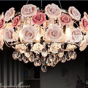 dtt013-5-den chum trang tri hoa hong phong cach chau au