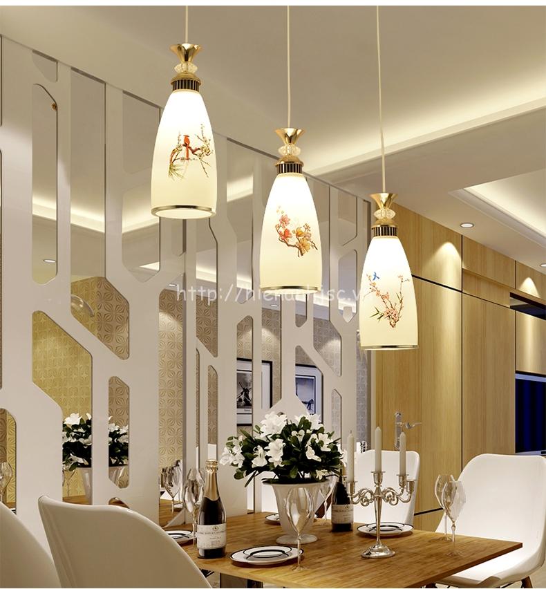 Đèn thả trang trí phong cách hiện đại đơn giản