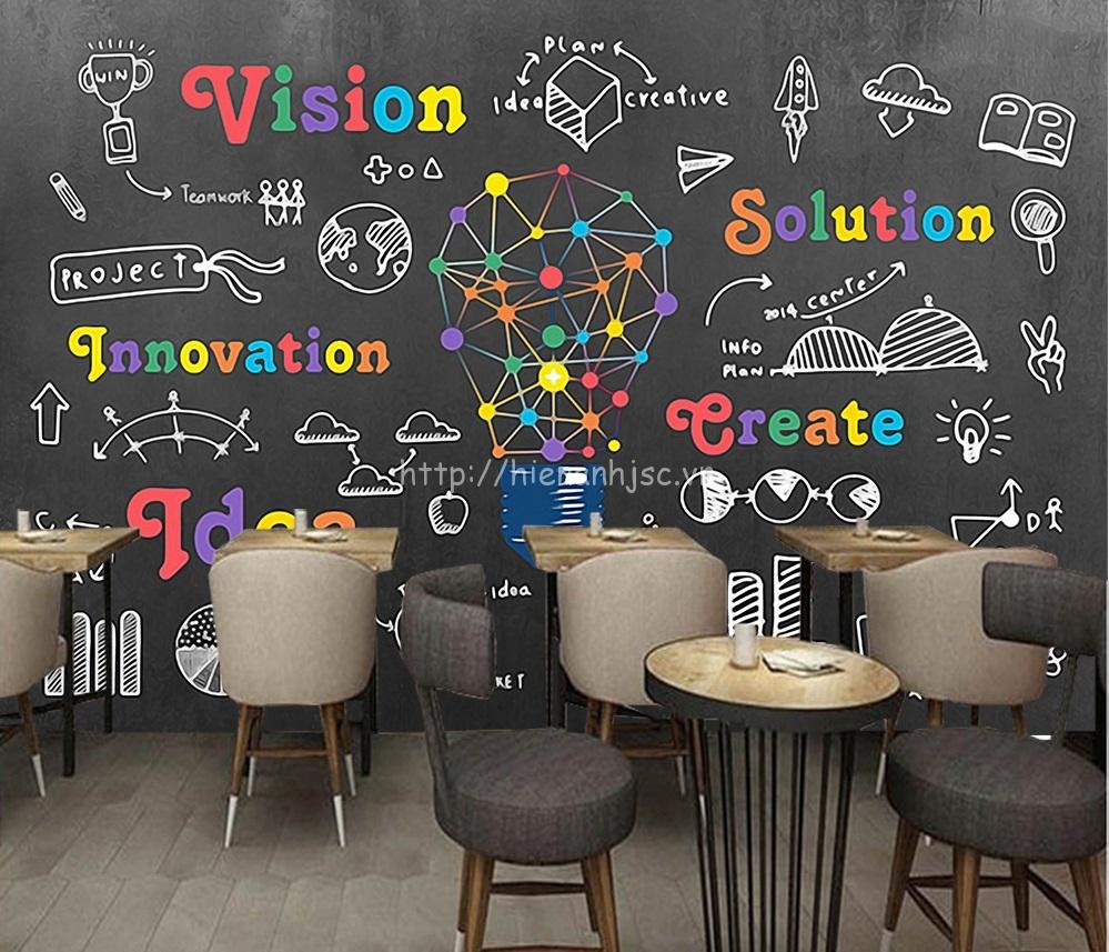 Tạo ra một góc đặc biệt, màu sắc với tranh dán tường cho quán cafe
