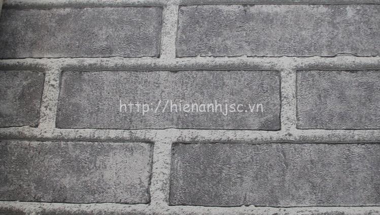 Giấy dán tường 3D - Giấy dán tường họa tiết giả gạch màu xám
