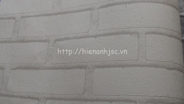 Giấy dán tường 3D - Giấy dán tường họa tiết giả gạch màu trắng