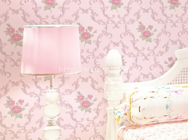 Giấy dán tường 3D - Họa tiết vườn hoa hồng phong cách Châu Âu 3D095