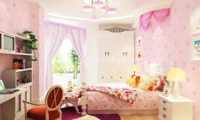 Tổng hợp mẫu giấy dán tường màu hồng 3D đẹp giá rẻ nhất