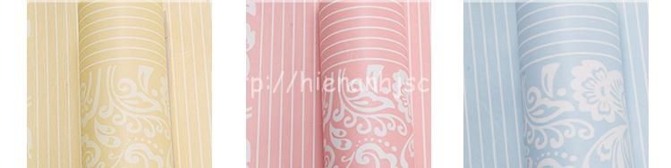 Giấy dán tường 3D - Họa tiết hoa văn kết hợp kẻ sọc 3D112 với 3 màu sắc