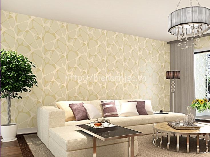 Giấy dán tường 3D - Họa tiết hiện đại phong cách Châu Âu - Vàng