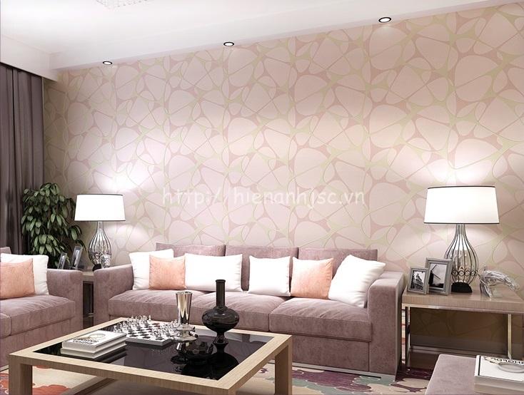 Giấy dán tường 3D - Họa tiết hiện đại phong cách Châu Âu - Hồng phấn