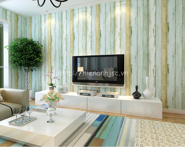 Giấy dán tường 3D - Họa tiết giả gỗ phong cách địa trung hải 3D123