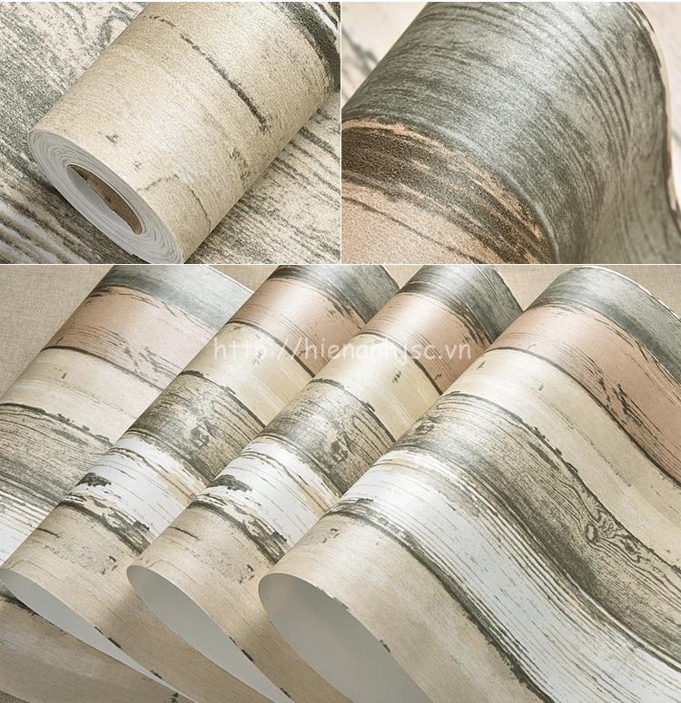 Giấy dán tường 3D - Họa tiết giả gỗ phong cách địa trung hải