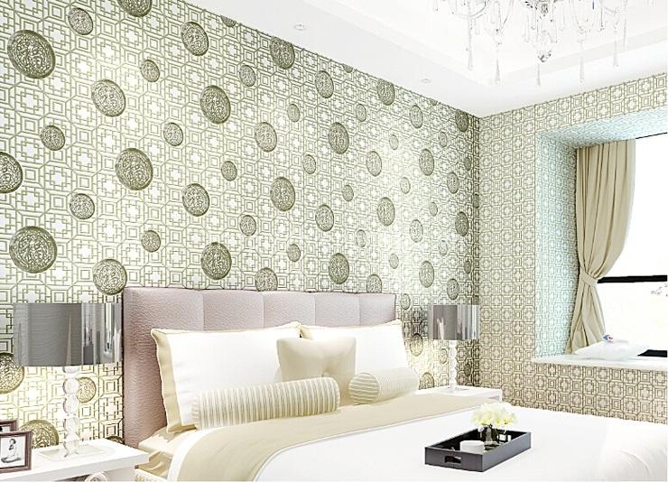 Giấy dán tường 3D - Họa tiết ô vuông cổ điển phong cách Trung Quốc 3D127