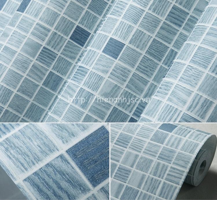 Giấy dán tường 3D - Họa tiết ô vuông nhỏ hiện đại - cuộn giấy