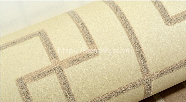 Giấy dán tường 3D - Họa tiết đan đơn giản phong cách Trung Quốc - Vàng