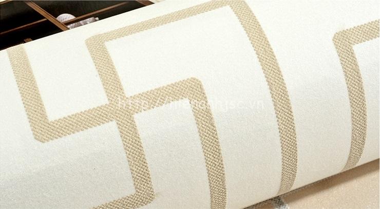 Giấy dán tường 3D - Họa tiết đan đơn giản phong cách Trung Quốc - Trắng