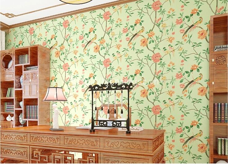 Giấy dán tường 3D - Họa tiết mùa xuân phong cách vẽ tay 3D131 mẫu 2
