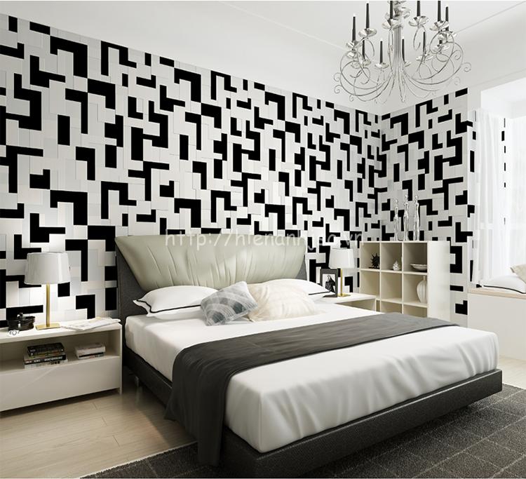 Giấy dán tường 3D - Họa tiết hình khối hiện đại 3D132 màu 6