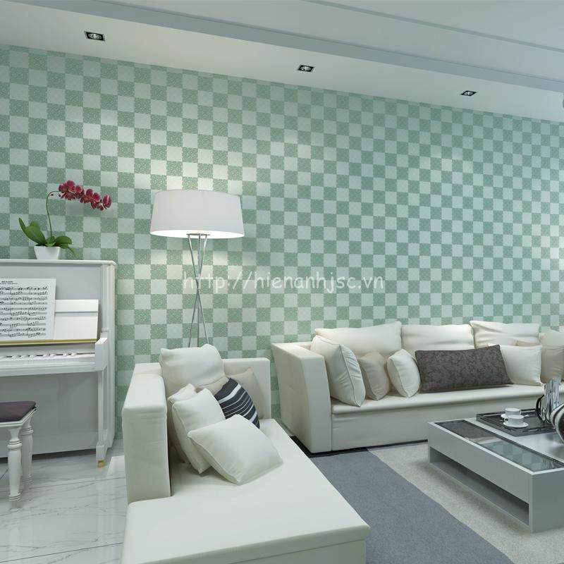Giấy dán tường 3D - Họa tiết ô vuông caro sang trọng 3D133 màu 4