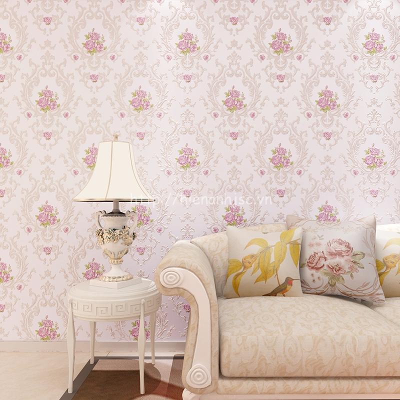 Giấy dán tường 3D - Họa tiết hoa hồng lãng mạn 3D102
