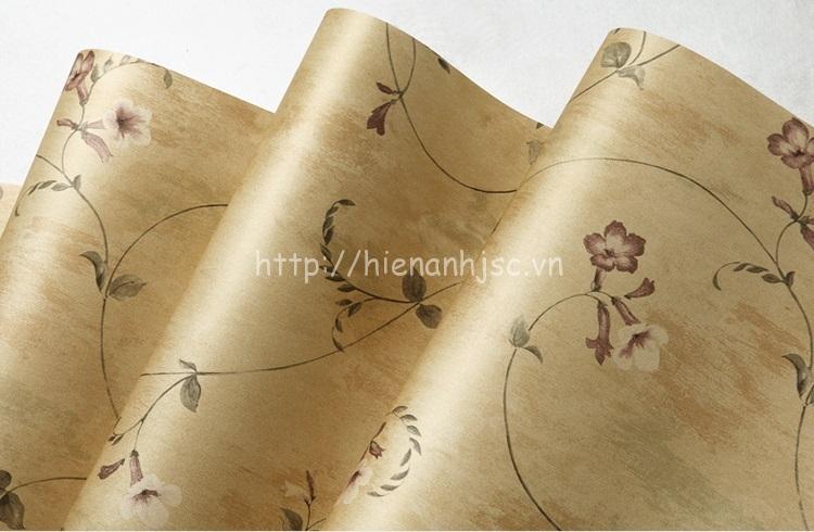Giấy dán tường 3D - Họa tiết hoa loa kèn, dây leo phong cách Mỹ 3D128