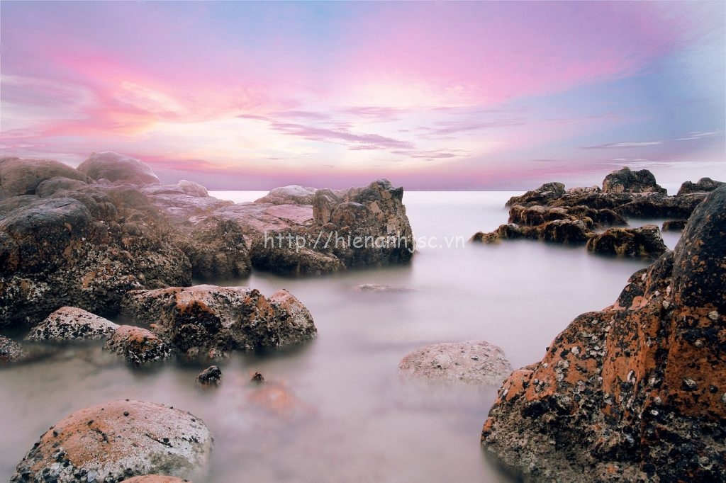 Tranh dán tường - Tranh phong cảnh bãi đá Cổ Thạch Phan Thiết 5DVN004
