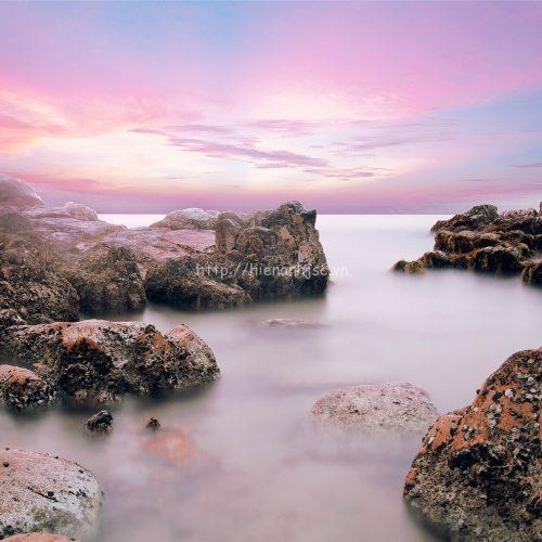 Tranh dán tường đảo Phan Thiết đẹp