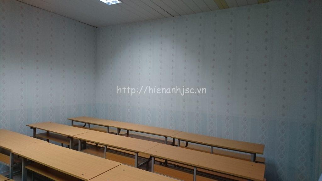 Hình ảnh căn phòng vừa thi công xong tạo cảm giác mới lạ cho học sinh