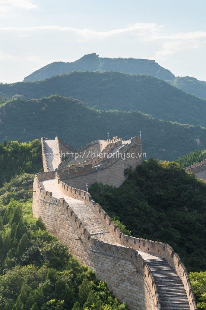 Tranh dán tường 3D 5D phong cảnh núi 01 - Vạn lý trường thành