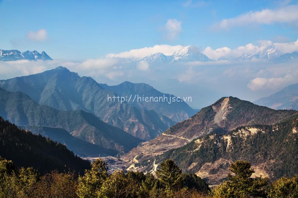 Tranh dán tường 3D 5D phong cảnh núi 09