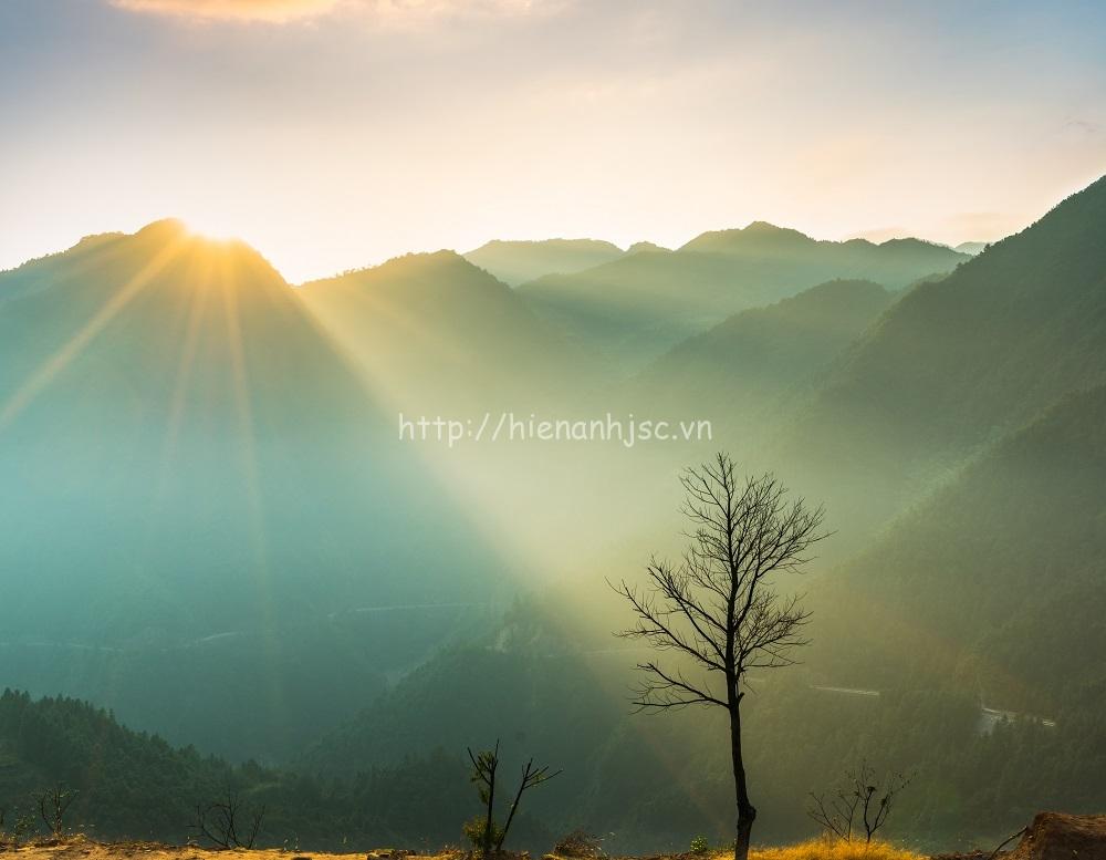 Tranh dán tường 3D 5D phong cảnh núi 07