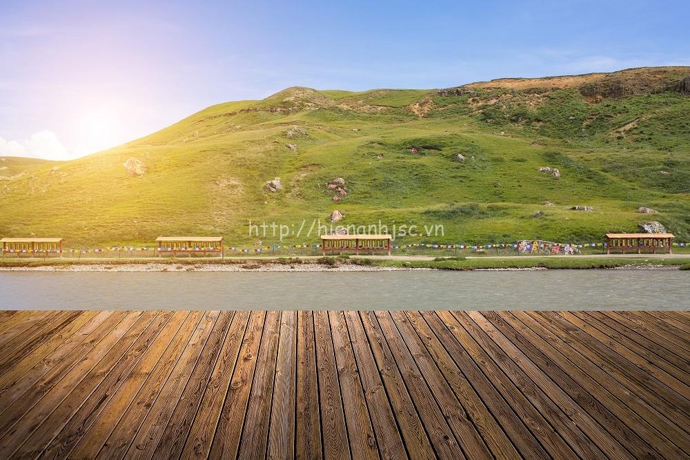 Tranh dán tường 3D 5D phong cảnh núi 08
