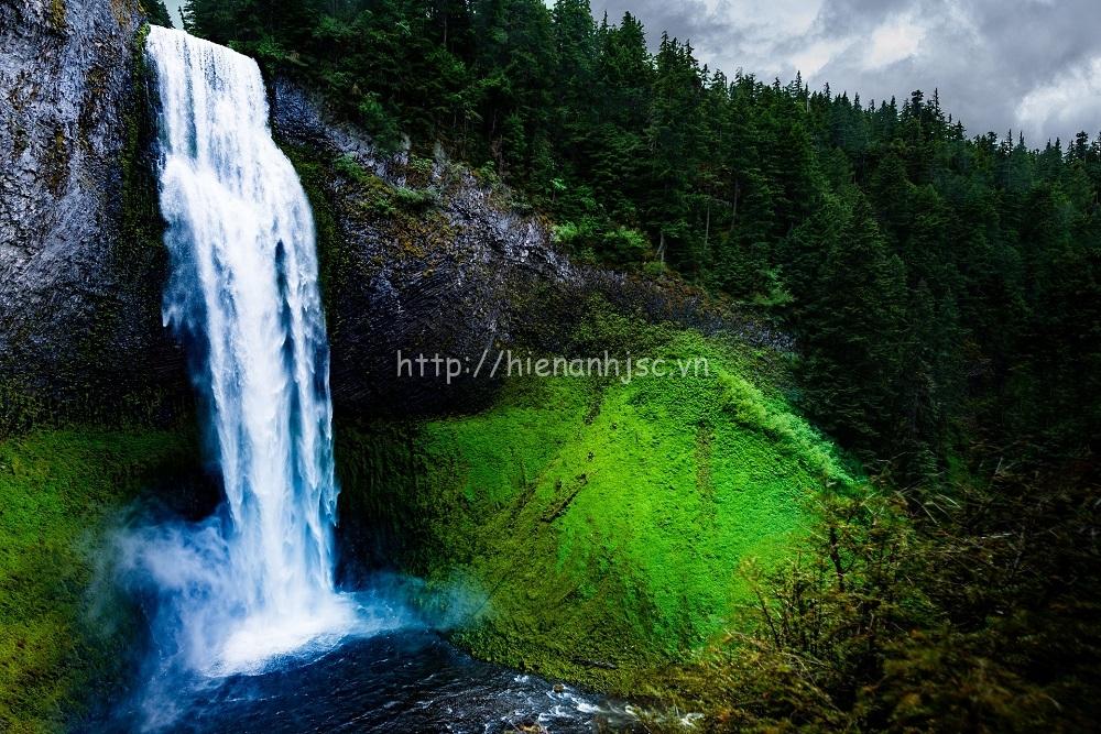 Tranh dán tường phong cảnh thác nước mã 06