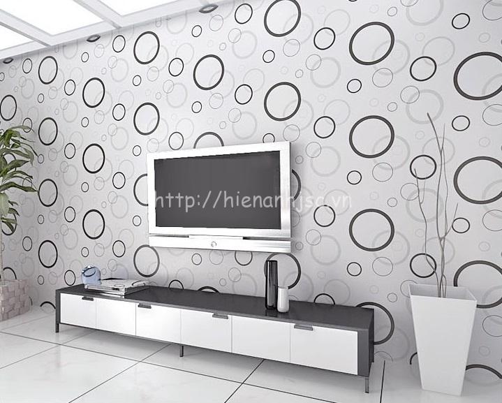Giấy dán tường 3D - Họa tiết vòng tròn hiện đại 3D150