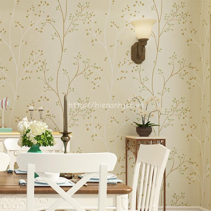 Giấy dán tường 3D - Họa tiết thân cây đơn giản 3D155 trắng