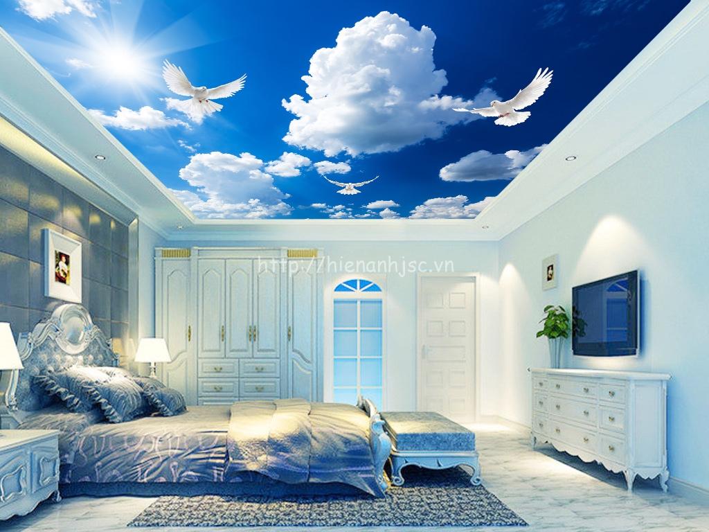 Tranh dán trần nhà 5D đẹp giá rẻ - 5D088
