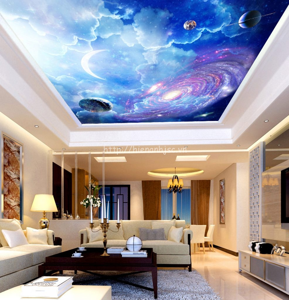 Tranh dán tường 5D - Tranh dán vũ trụ thiên hà 5D095