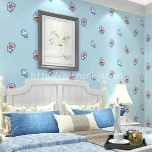 3D161-1-giay dan tuong hoa tiet doremon cho be