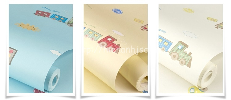 3 màu sắc tươi sáng thu hút của giấy dán tường 3D163