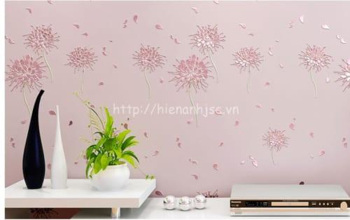 3D164-3-giay dan tuong 3d hoa tiet hoa cach dieu phong cach han quoc