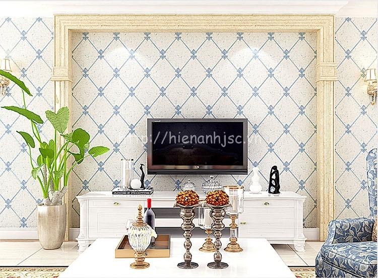 Giấy dán tường 3D - Họa tiết giả gạch hoa phong cách Châu Âu 3D167 trắng