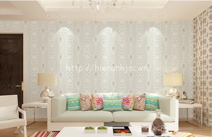 Giấy dán tường 3D168 họa tiết hoa văn dập nổi kẻ sọc có 4 màu trắng