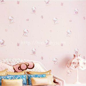 3D170-5-giay dan tuong 3d hoa tiet meo hello kitty cho be