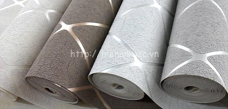 4 màu sắc sang trọng của giấy dán tường sọc chéo kim cương
