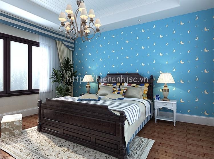 Giấy dán tường 3D - Họa tiết mặt trăng, ngôi sao cho phòng ngủ 3D178 mẫu 3